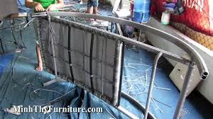 Sản xuất ghế hồ bơi MT488 tại xưởng đan mẫu nội thất Minh Thy Furniture
