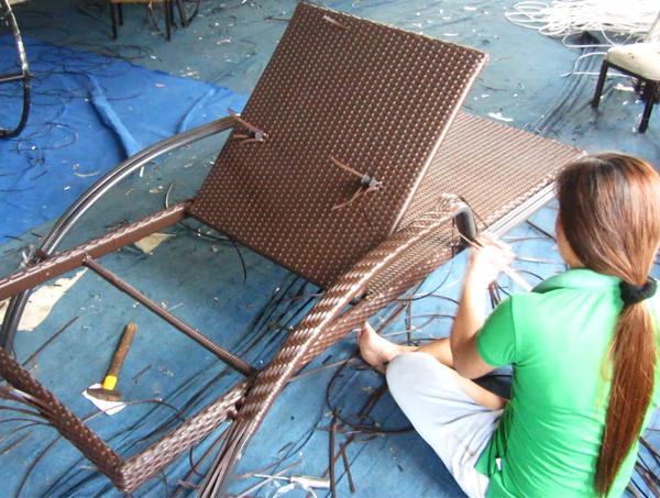 Sản xuất ghế hồ bơi nhựa giả mây ngoài trời MT479 | GIƯỜNG NẰM BÃI BIỂN, BÀN GHẾ BỂ BƠI