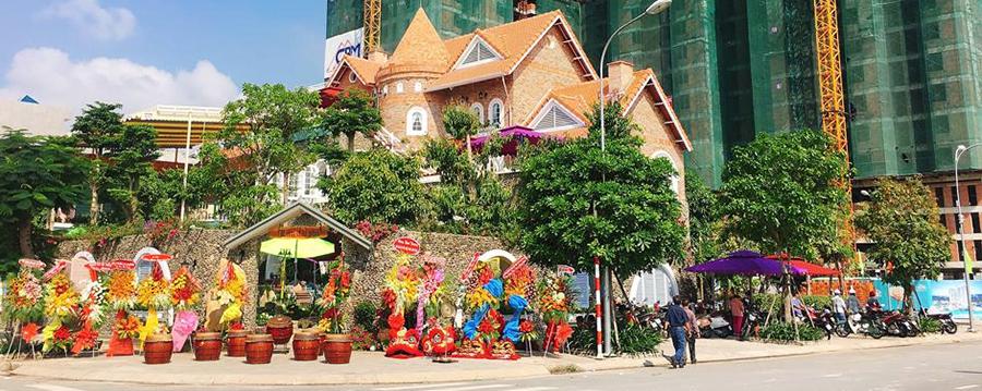 Minh Thy furniture cung cấp bàn ghế sắt nghệ thuật cho quán Castle Land Coffee - Cafe Lâu Đài Phố