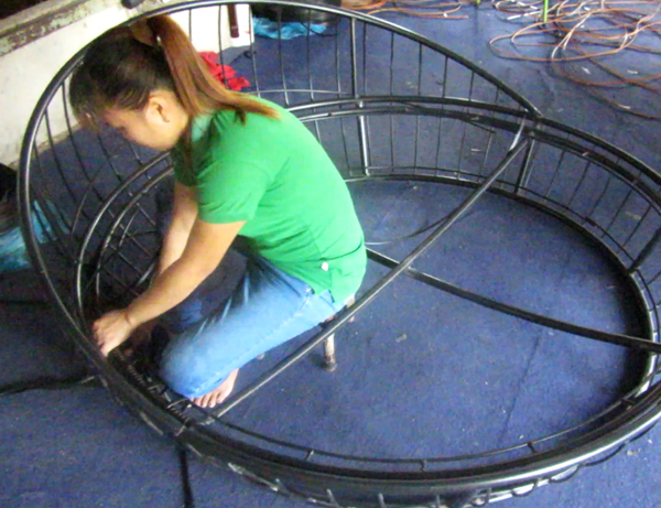 Đan mẫu giường tắm nắng 445 tại xưởng đan mẫu Minh Thy Furniture