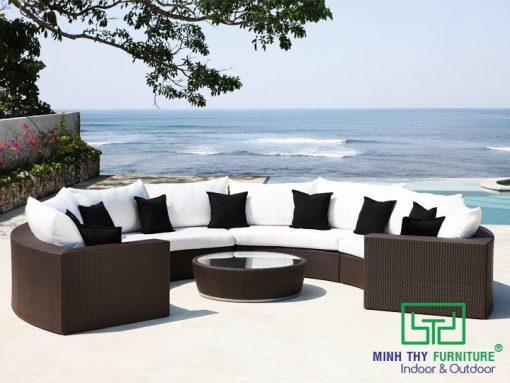 Sofa nhựa giả mây MT178