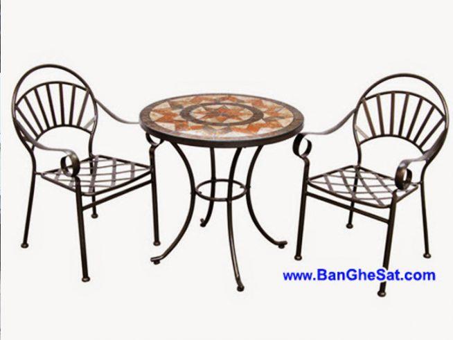ban ghe sat cafe san vuon bgs427