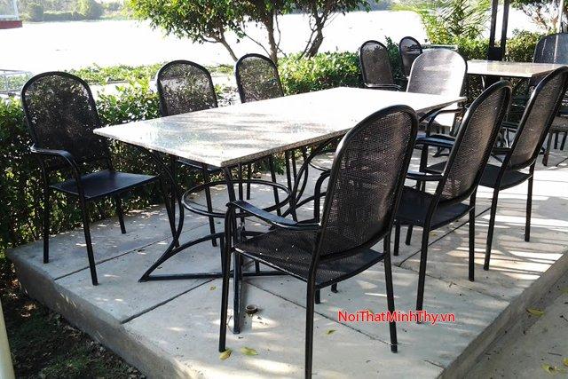 bàn ghế sắt mỹ thuật