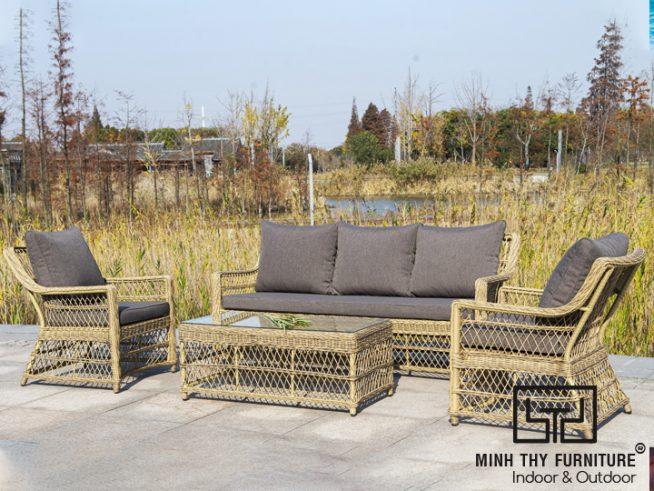 Bo ban ghe sofa nhua gia may MT1003