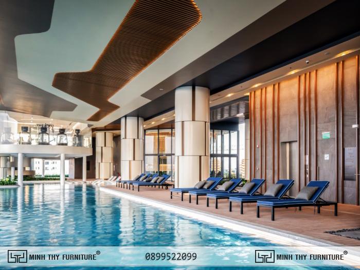 ghế hồ bơi pool plywood